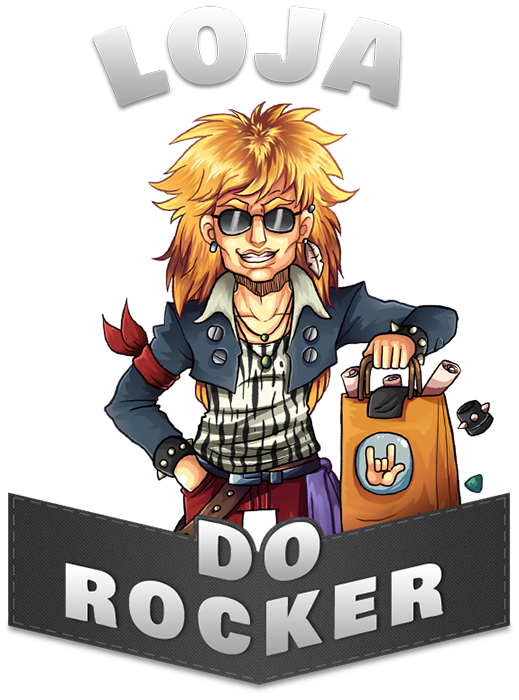 The Rocker - mascote da loja do rocker